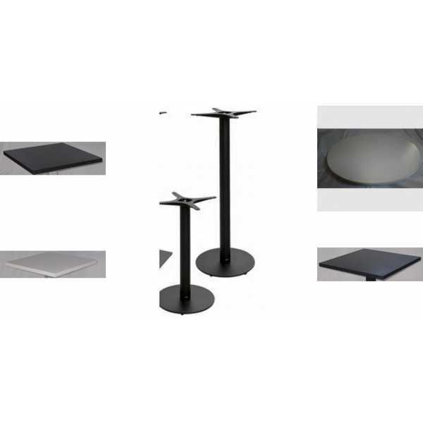vendita tavolo gamba centrale ghisa,top legno ,prezzo tavolini ...