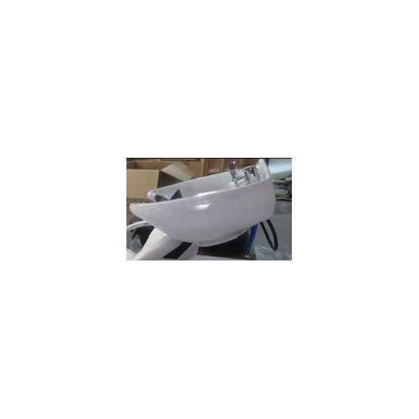 Lavabo parrucchiere kit ceramica bianca per poltrona 992 for Mondo arreda