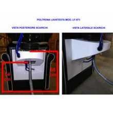Kit miscelatore, doccia, scarico acqua 992/961 parrucchiere per poltrona lavatesta uso professionale