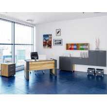 Ufficio Business 1 - Arredo ufficio completo in legno nobilitato melaminico, casa, studio, scuola, albergo