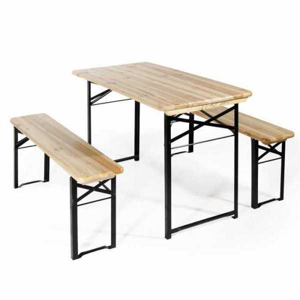 Set birreria 2360 tavolo e 2 panche in legno gambe in for Panche in legno da giardino