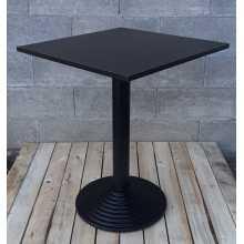 MARTE PR - Tavolo gamba centrale ferro (ghisa) top legno, bar, ristorante