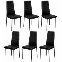 Pack 6 sedie NUVOLA - Sedia metallo ecopelle (pelle ecologica) bar ristorante pizzeria negozio albergo discoteca