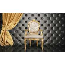 Pannellatura a muro per divanetti da bar e poltroncine contract, rivestimento in ecopelle (pelle ecologica), colori a scelta
