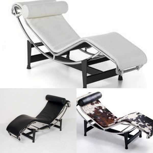 Divani LC4 poltrone Contract Le Corbusier Chaise Longue ecopelle ...