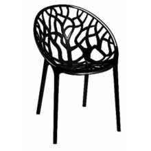 Tree chair PCB - Sedia (poltrona) Impilabile traforata da esterno ed interno per bar,ristorante,piscina,hotel