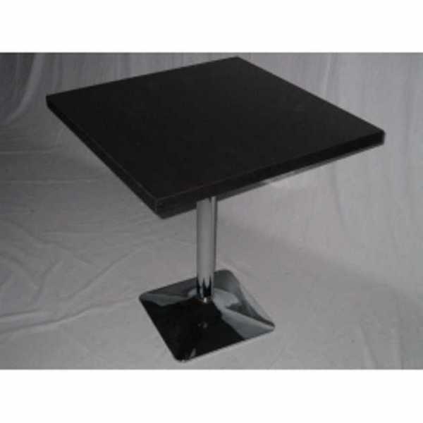 Tavolo gamba centrale acciao cromato tavolini ristorante bar tavoli top quadrato legno tavolino - Tavolo quadrato gamba centrale ...