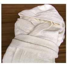 Wellness - Accappatoio con cappuccio in spugna di puro cotone per hotel, albergo, b&b, Spa